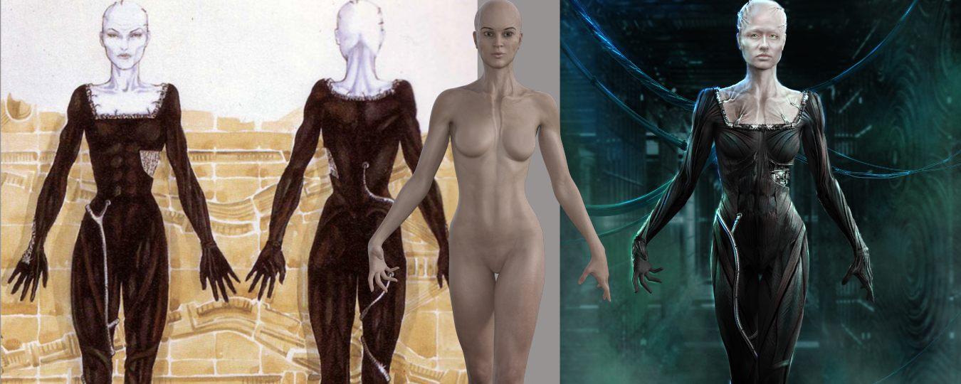 art by Gina DeDomenico, a costume concept artist